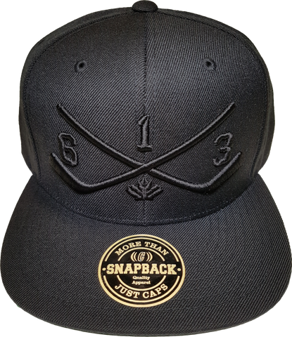 STICKS 613 Ottawa Snapback Blackout