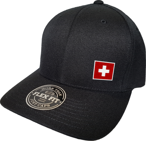 Switzerland Cap Flex Fit FLS Black