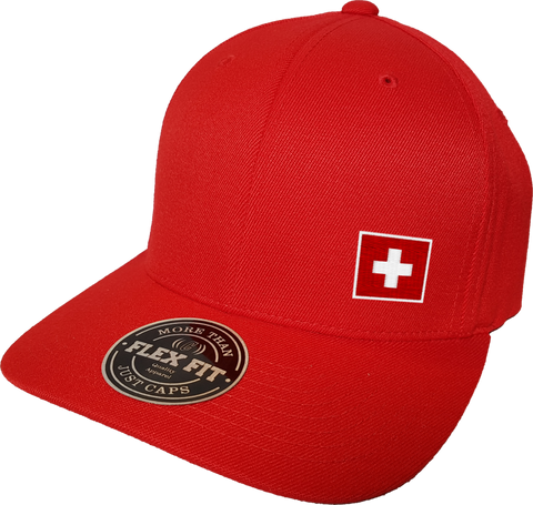 Switzerland Cap Flex Fit FLS Red