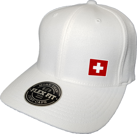 Switzerland Cap Flex Fit FLS White