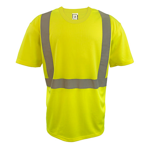 Custom Embroidered Hi-Vis Micro-Fibre Short Sleeve T-Shirt