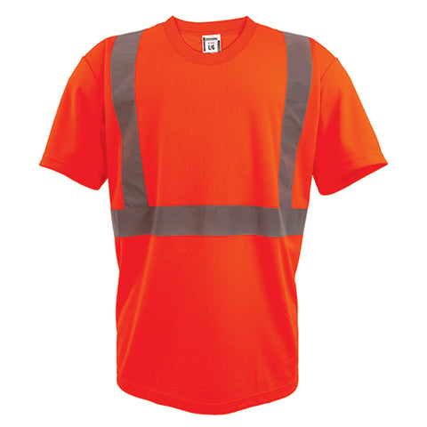 Custom Embroidered Hi-Vis Micro-Fibre Short Sleeve T-Shirt 180gsm