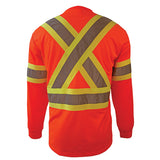 Custom Embroidered Hi-Vis Micro-Fibre Long Sleeve T-Shirt TS1204