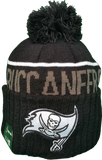 Tampa Bay Buccaneers Fleece Lined Black Pom Toque
