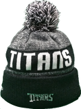 Tennessee Titans Black 2016-2017 Sideline Knit Pom Toque