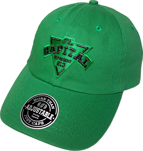 The Capital Patch Dad Hat Green