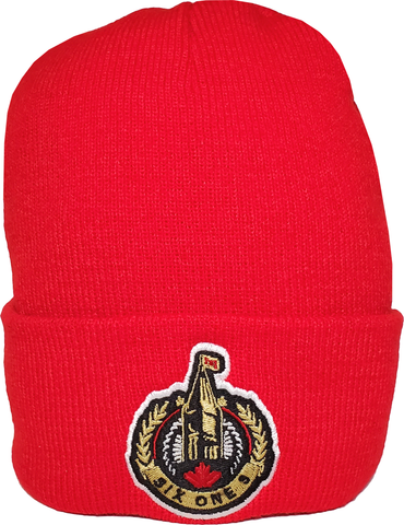 The Hill Ottawa Basic Beanie Toque Red