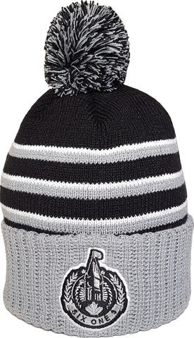 The Hill Ottawa Pom Toque Grey Black