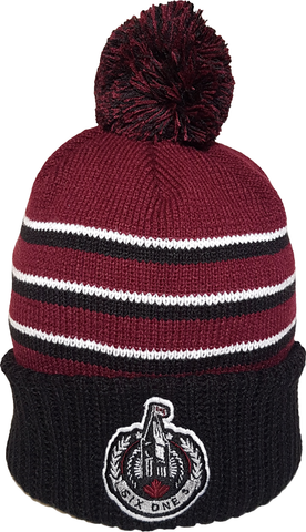 The Hill Ottawa Pom Toque Maroon