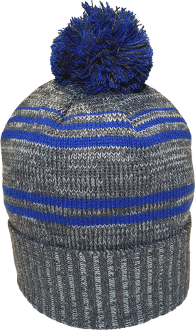 Micro Fleece Lined Pom Toque Charcoal Royal