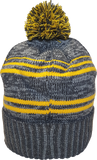 Micro Fleece Lined Pom Toque Charcoal Gold