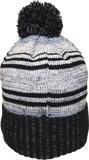 Micro Fleece Lined Pom Toque Grey Black