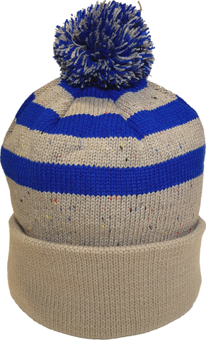 Jersey Fleck Knit Pom Toque Oatmeal Royal