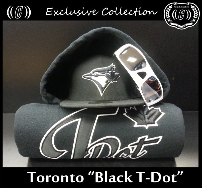 Toronto Black T-Dot 17oz Cotton Blend Hoodie