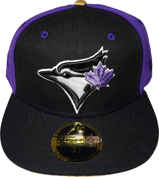 e5f58417c Toronto Blue Jays Fitted Custom Exclusive Low Profile Black, Purple an –  More Than Just Caps Clubhouse