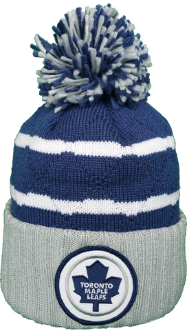 Toronto Maple Leafs Mitchell & Ness High Five NHL Pom Toque