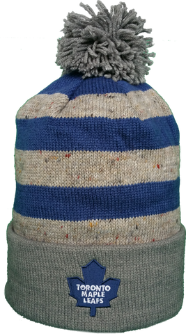 Toronto Maple Leafs Speckled Oatmeal Pom Toque