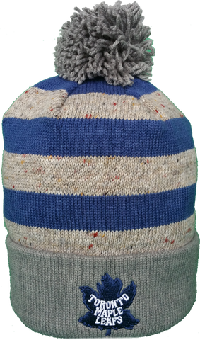 Toronto Maple Leafs Vintage Speckled Oatmeal Pom Toque
