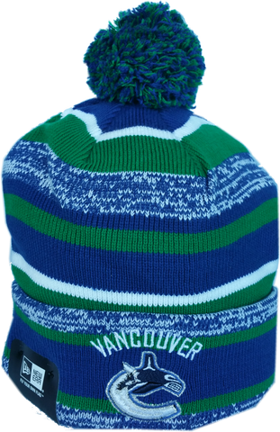 Vancouver Canucks NHL Sport Fleece Lined Pom Toque