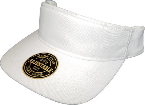 Premium Visor Blank Adjustable Flex White