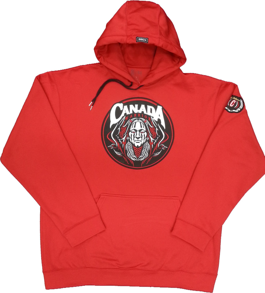 Canada Warrior Hoodie Red Therma
