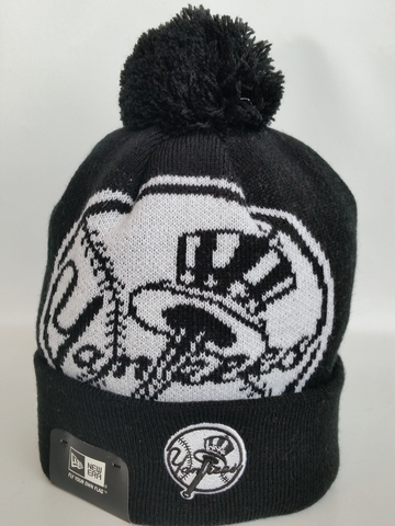New York Yankees Black and White XL Logo Core Toque