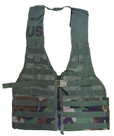 SDS Zippered Woodland MOLLE II Tactical Vest FLC