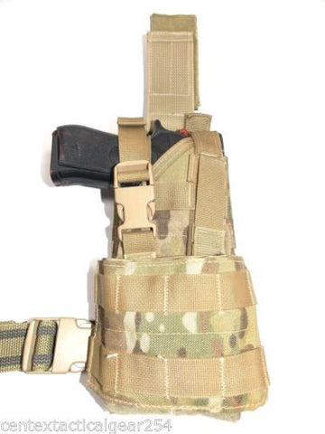 London Bridge Multicam Ambidextrous Drop Leg Gun Holster