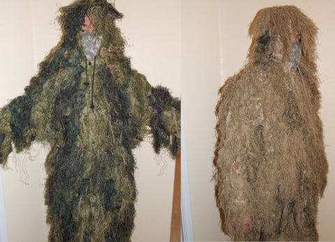Military Style Ghillie Suit Parka 1 Piece Top Camouflage Jacket Sniper Hunting