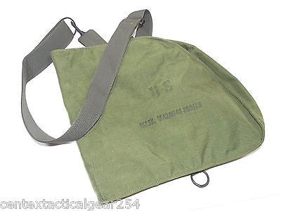 Military Canvas Nylon OD Green Carry Bag Gas Mask Carrier Pouch Sling Pack