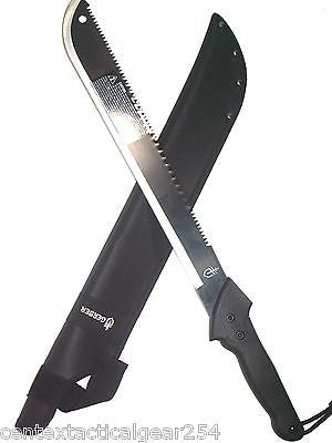 Gerber Machete Outdoor Survival Jungle Knife Cleaver w/ Sawback & Nylon Sheath