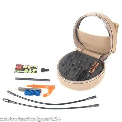 OTIS Gun Care 9mm Pistol Weapon Cleaning Kit Tan Soft Pack