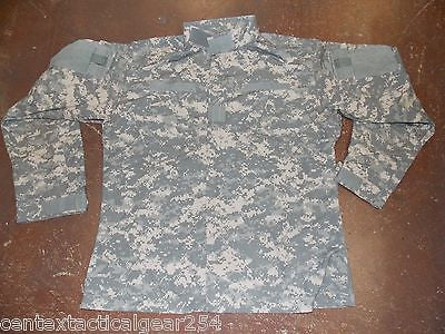 Army ACU Combat Uniform Top Shirt Coat Jacket 50/50 Cotton/Nylon Large/Regular