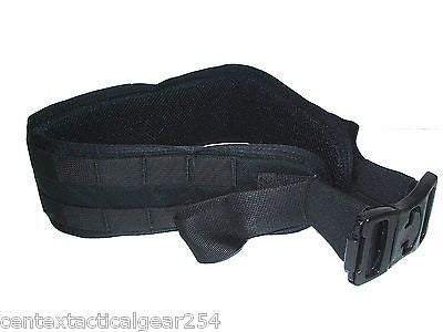 Black Tactical Padded Modular Webbing Belt Combat War Battle MOLLE Load Carrier