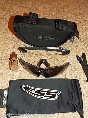 ESS ICE Tactical Shooting Glasses Interchangeable Lens Clear & Smoke Kit