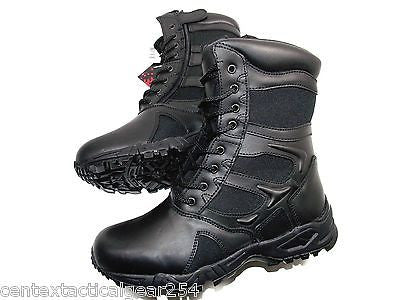 "Black Tactical Law Enforcement Duty Boots Military Combat Boot 8"" Side Zipper"