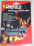 FIREFIELD Red/Green Dot Reflex Sight (4) Reticle Patterns Pistol Rifle Shotguns