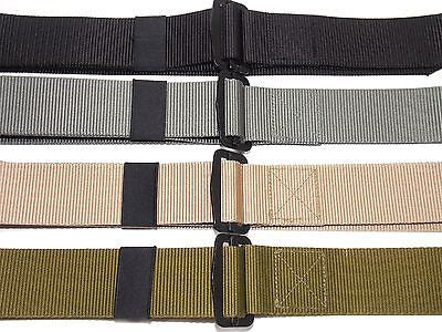 "Military Army Combat Uniform Cargo Strap Rigger's BDU Belt XL 58"" Trim to Fit"