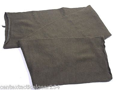 Military Surplus Wool Scarf Cold Weather Neck Warmer Olive Drab OD Green