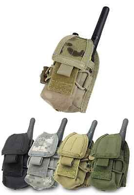 MOLLE Tactical Small 2-Way Radio Pouch for Motorola or Midway Fits Belt