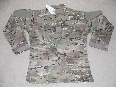 Army Multicam/OCP Combat Uniform FR Top Coat Jacket Shirt Size: Small/Long