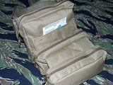 Coyote Brown CLS Medic Bag First Aid Medical Kit MOLLE Trifold IFAK EMT M-3