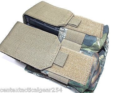 MOSSY OAK CAMO Double Rifle Magazine Pouch 4x30 MOLLE AR Mag Carrier 5.56
