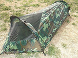 Woodland Camo One Man Survival Tent Camouflage Bivouac Bug Out Compact Shelter