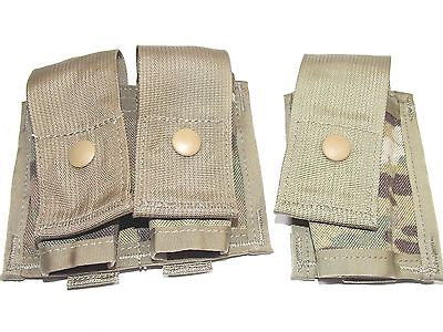 MULTICAM 40mm 203 Grenade MOLLE Pouch Grenadier Pockets Single Double OCP NEW