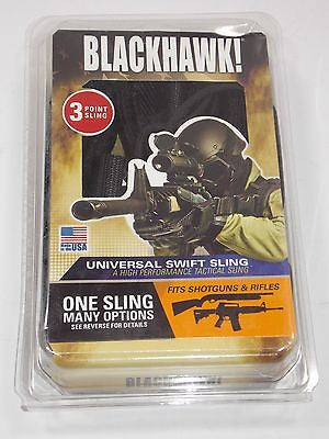 BLACKHAWK Universal Swift 3 Point Sling Fixed or Collapsible Stocks Tactical New