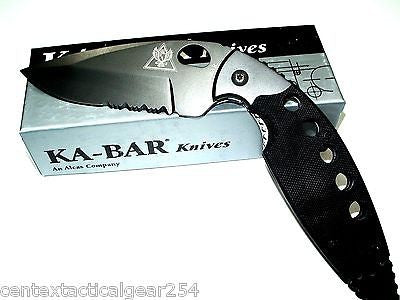 KA-BAR Tactical Defense Law Enforcement Concealment Knife Serrated Blade Folder