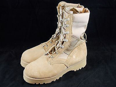 Wellco Desert Army Combat Boots Hot Weather Boot Vibram Soles Size: 5.5 Wide
