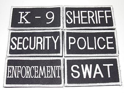 "SHERIFF POLICE SWAT K-9 SECURITY ENFORCEMENT VELCRO TACTICAL VEST ID PATCH 2""x4"""