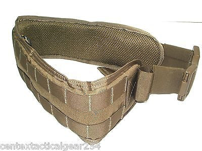 Coyote Brown Tactical Padded Modular Webbing Belt Combat War Battle Load Carrier